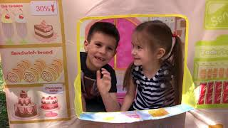 Kids Pretend Play with Playhouse for kids Funny video Dessert bread shop