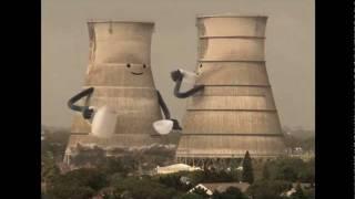 Excelente animación con Torres de Plantas Nucleares siendo derrumbadas