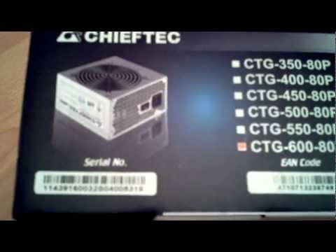 Chieftec A-80 CTG-600-80P - Unboxing - Review