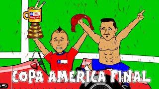 COPA AMERICA FINAL 2015 (Chile vs Argentina highlights, goals, penalties, cartoon song)