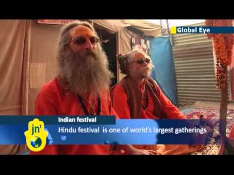 Hindus arrive for Maha Kumbh Mela festival: event could be biggest ever religious gathering