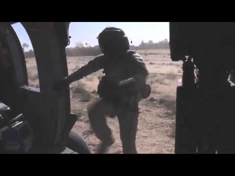 101st Airborne's Dust Off Medivac Team in Action. FOB Dwyer 24th Sept 2010