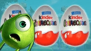 Monsters University Kinder Surprise Eggs Unboxing 2