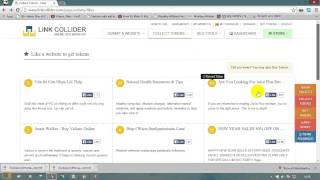 How to get free real facebook likes pinterest and twitter followers.using Link Collider.