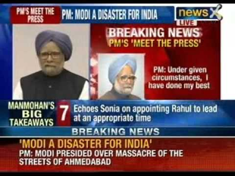 Prime Minister Manmohan Singh makes a strong pitch for Rahul Gandhi - NewsX