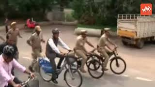 KTR Metro Cycle Ride with Governor Narasimhan | Ameerpet to Hyderabad | High Security