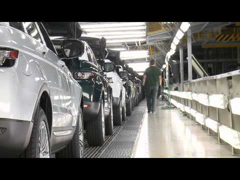 First Range Rover Evoque rolls of the production line
