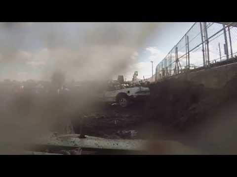 Steele County Fair, Owatonna, MN ~ Mid-Size Demo Derby August 23, 2015 GO-PRO