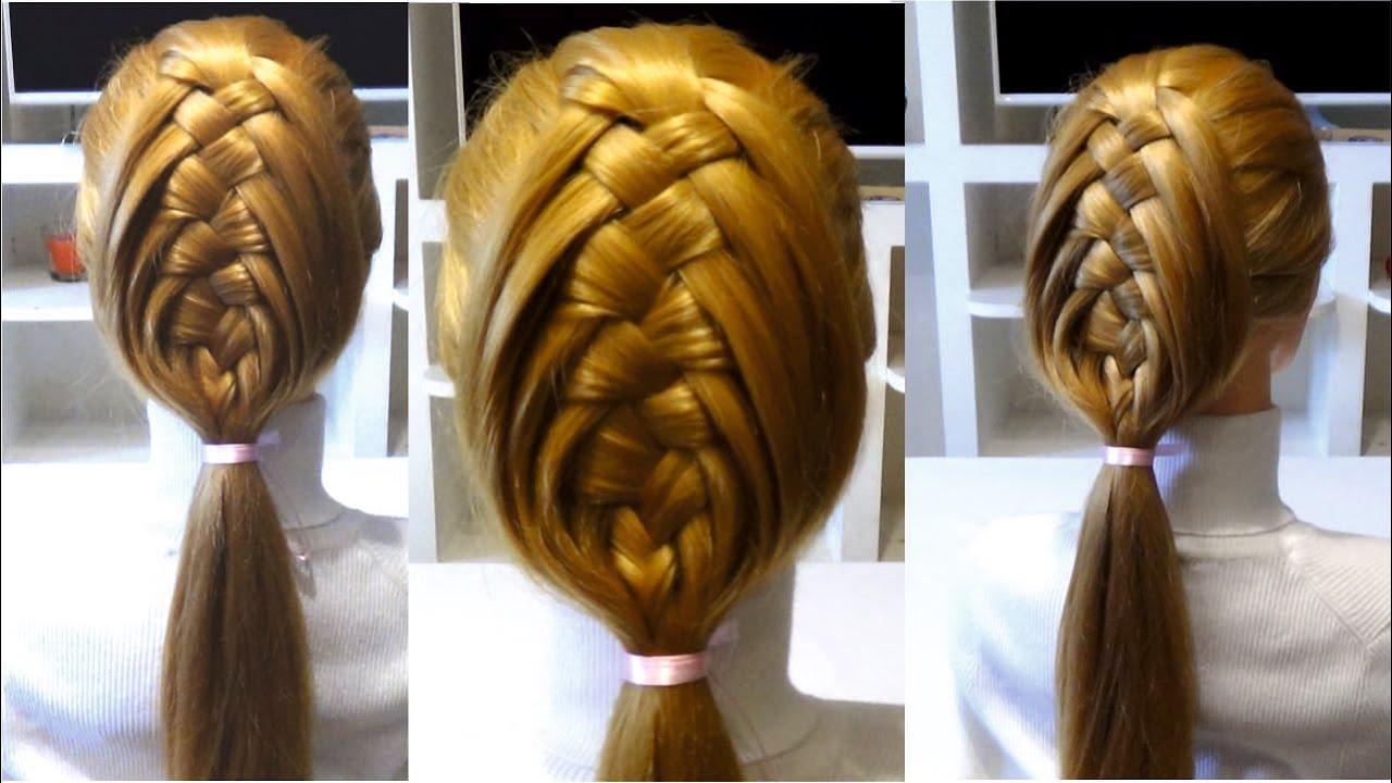 Прически с плетением кос в школу