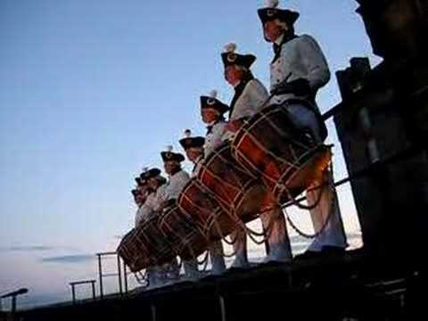 MCV Snare Line on Parapet at Edinburgh Tattoo