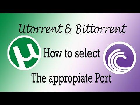 Utorrent Settings 2014 for Port and Bandwidth