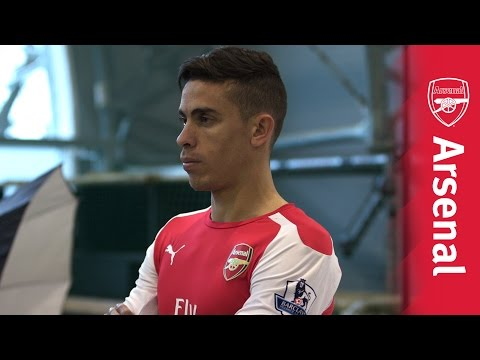 Gabriel's Arsenal photoshoot
