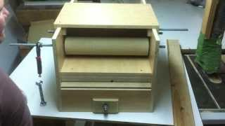 "Cheap!!! ""HomeMade Drum Sander"" With feeder. Almost done! 9"