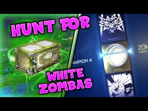 *OMG* ON THE HUNT FOR TITANIUM WHITE ZOMBAS! - Rocket League CC4 Crate Opening