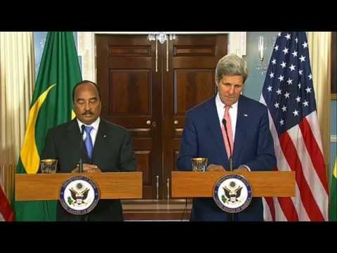 Secretary Kerry Delivers Remarks With President of Mauritania Aziz