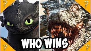 Toothless vs Drogon