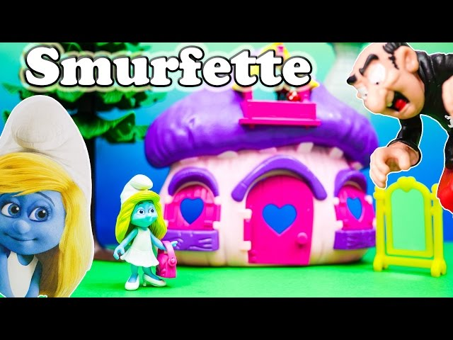 SMURFS Smurfettes House a Schtroumpfs a Smurfs Video Toy Review