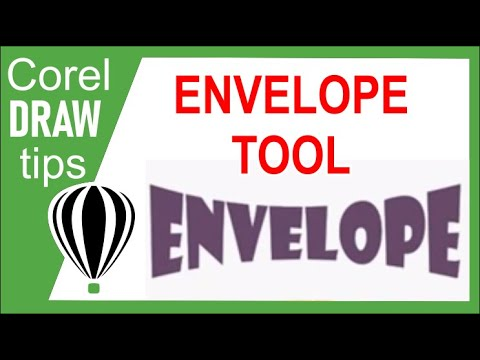 Using the envelope tool in CorelDraw