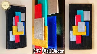 Abstract Wall Decor| Wall Hanging Craft Ideas| gadac diy| Unique Wall Hanging| cardboard wall decor