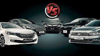 Clash of the Titans: Camry, Accord, Mondeo, Passat, Acura TLX