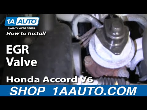 How To Install Replace EGR Valve Honda Accord V6 95-97 1AAuto.com