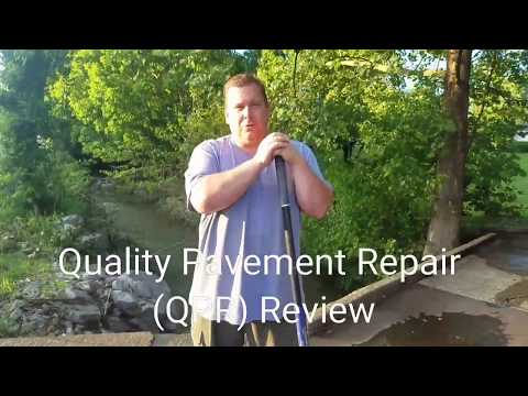 QPR Quality Pavement Repair how to review asphalt driveway pothole crack filler