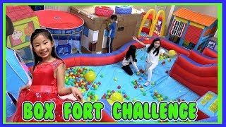 Pretend Play Box Fort Challenge with Ryan's Toy Review Toys ( Biggest Playground )