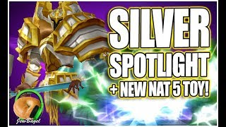 SUMMONERS WAR : Silver the Light Living Armor + NEW NAT 5 TOY!