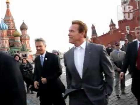 Арнольд Шварценеггер прогулялся по Красной площади