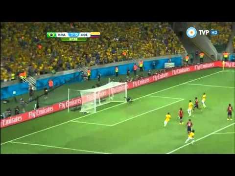Brasil vs Colombia 2 1 Resumen y Goles Mundial Brasil 2014 Tv Publica
