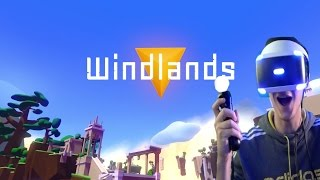 Windlands Gameplay (PSVR) Part 1 - The Swinging Guardian