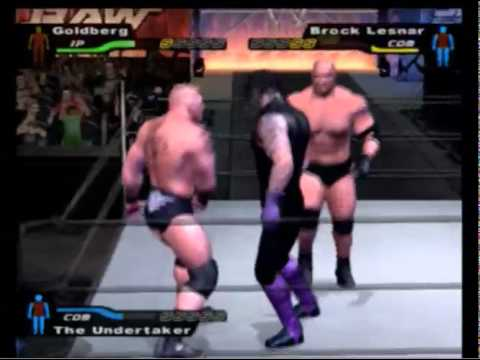 Smackdown Hctp:  Goldberg Vs. Brock Lesnar Vs. Undertaker (legend) video
