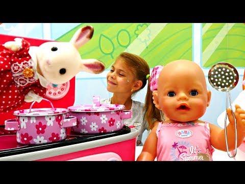 Мультики для детей с Беби Бон. Новая посуда для девочек