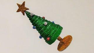 How to make mini tabletop christmas tree