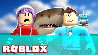 A SHARK RUINED OUR VACATION | Roblox Shark Bite w/ RadioJH Games | MicroGuardian