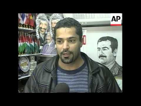 GAZA: SUPPORT FOR SADDAM HUSSEIN CONTINUES