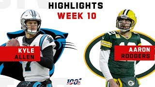 Kyle Allen & Aaron Rodgers Duel in the Snow ❄️ | NFL 2019 Highlights