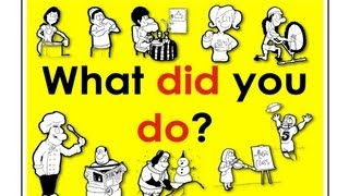 What did you do past tense verbs easy english conversation practice