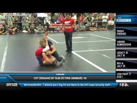 Cat Zinganos Flying Armbar  All the KOs You Could Ask For in Friday Finishes