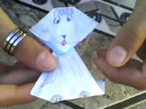 como fazer um cachorro de papel
