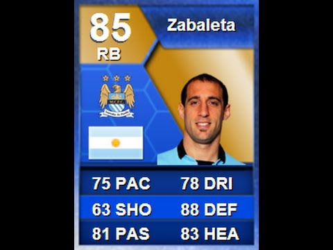 FIFA 13 BPL TOTS Zabaleta Player Review *85 Rated* | BPL | Online Goals [ Ultimate Team ]