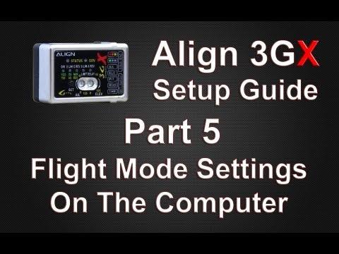 3GX Setup Guide Part 5 Flight Mode Settings On The Computer
