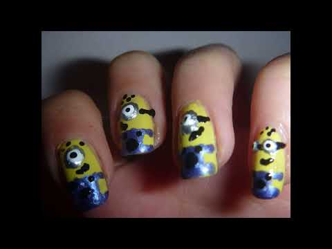 Uñas de mi villano favorito!! - Minions