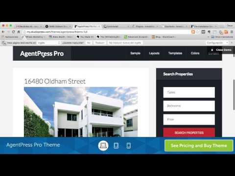 Hacer Web Para Una Inmobiliaria Con La Plantilla AgentPress Pro En Wordpress