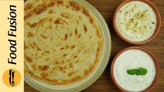 Lacha Paratha wtih Creamy Dips Recipe By Food Fusion