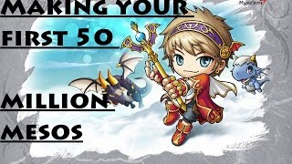Maplestory - How To Make Your First 50 Million Mesos