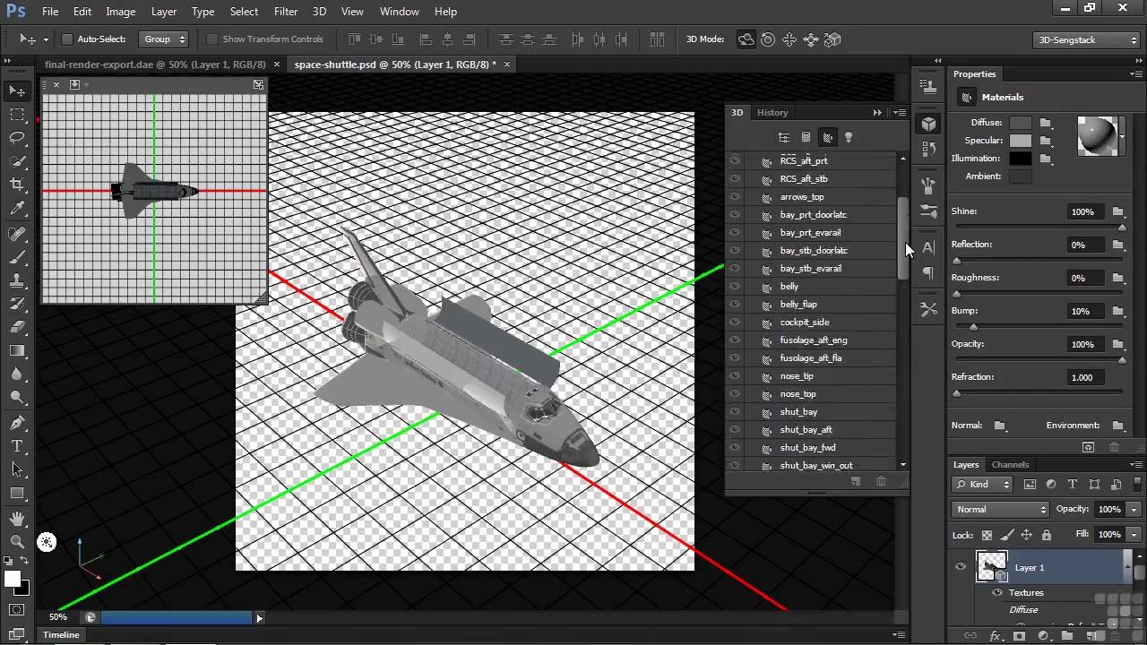 3D Modeling with Adobe Photoshop Tutorial   Exporting 3D ...