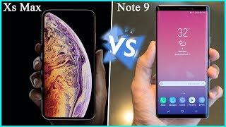 So sánh iPhone Xs Max vs Galaxy Note 9 - Apple đã run sợ?