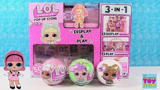 LOL Surprise Pop Up Store Exclusive Doll Display Playset Unboxing Review | PSToyReviews