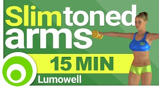 Slim and Toned Arms - 15 Minutes. Dumbbell Exercises at Home